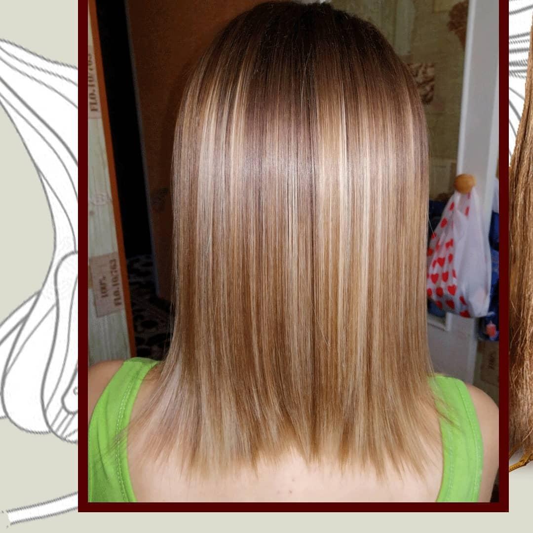 Ботокс волос + прикорневой объём. На фото ДО  волосы вымыты шампунем глубокой очистки...