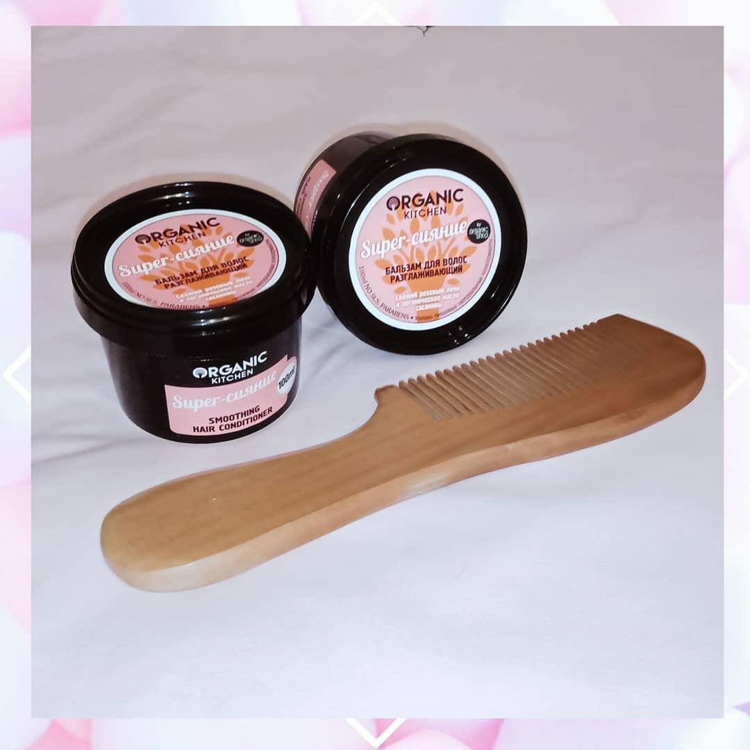"""Мытье волос: Обзор Разглаживающего бальзама для волос """"Super-сияние"""" Organic Shop ⠀ Артикул: ORGA0..."""