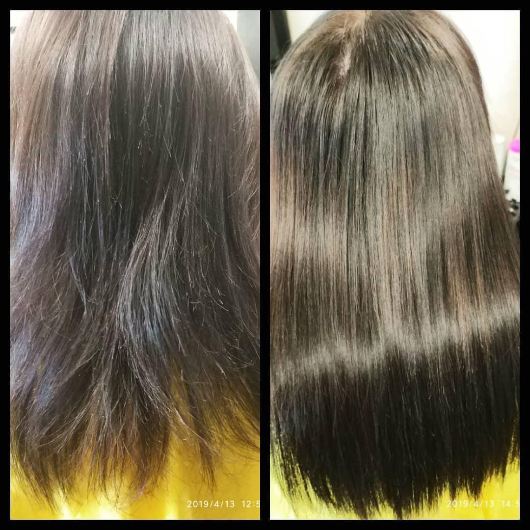 Укрепление волос: Листаем  Две работы  полировка + ботокс волос  Волосы уже после одной процедуры  БОТО...